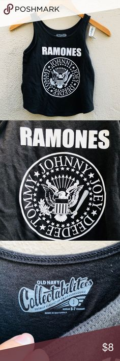 NWT Kid's Ramones band tank top Kids size 6/7 perfect for any gender. Classic top. New with tags Old Navy Shirts & Tops Tank Tops