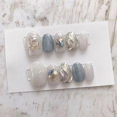 ネイル ネイル in 2020 Pastel Nails, Cute Acrylic Nails, Red Nails, Swag Nails, Japanese Nail Design, Japanese Nail Art, Elegant Nails, Stylish Nails, Kawaii Nail Art