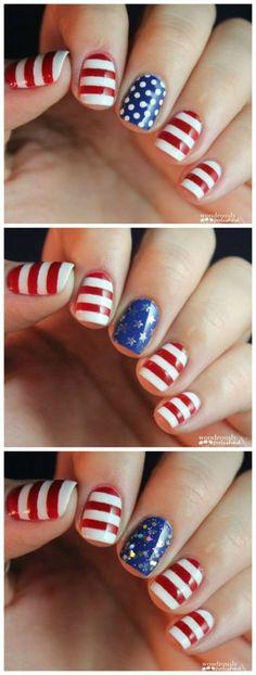 4th July Nail Art Designs Patriotic Spirit – 55 picture