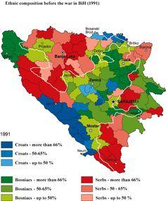 Ethnic groups in Bosnia and Herzegovina 1991