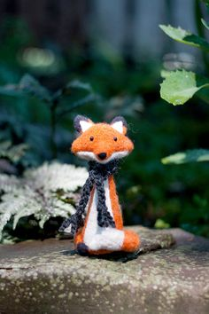 Henry needle felted collectable fox by MiloandBen on Etsy, $55.00