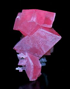 Stacked rhombs of Rhodochrosite with Tetrahedrite and Needle Quartz