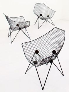 Gastone Rinaldi; #DU43 Painted Metal Armchairs for Rima, 1953