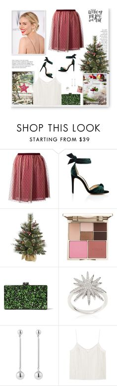 """""""2 Days to Christmas..."""" by streetstylefiles ❤ liked on Polyvore featuring RED Valentino, By Terry, Alexandre Birman, Stila, Edie Parker, Apples & Figs, Susan Caplan Vintage and MANGO"""
