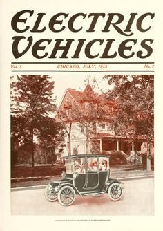 Electric Vehicles Magazine Cover July Anderson Electric Car