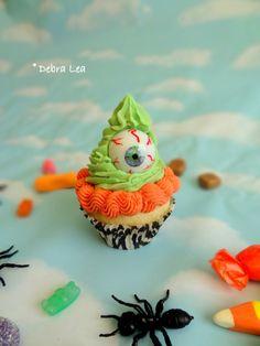 Fake Cupcake Halloween Spooky Eyeball Monster Faux Cupcake Display Decor One Eyed - Imagine Out Loud