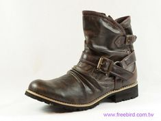 mens shoes | Nice Manual Work on Men's Synthetic Leather Casual Boots