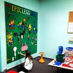 The Epic Library LEGO Wall: How to Build One The supplies will vary depending on what size of a LEGO wall you want to build. I decided to go all out and make a giant 80″ x 80″ LEGO wall so that it could be the centerpiece of our library Makerspace. Of course, any size LEGO wall that works in your space is awesome.