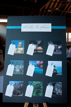 travel themed table plan... worth considering if we do a cruise :)