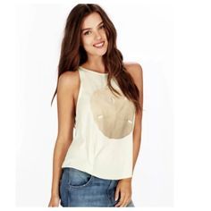 Wildfox Perfect Currency sand dollar tank Cute, flowy tank in light mint green. New with tags.                                                                                                                                                                 Crewneck, sleeveless Cotton/polyester Machine wash Made in USA Wildfox Tops Tank Tops