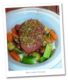 Slow Cooker Pot Roast | Babzy's Gluten Free Weight Watchers Recipes