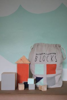 BLISS - wee wednesday with lindsay of darling clementine: Little Toys | Wood Blocks