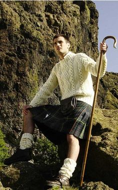 mountain kilt, fishermans sweater, and hot guy ...check!