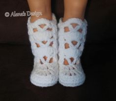 """Elegant Boots for 18"""" Doll   Craftsy"""