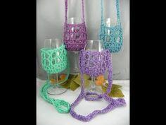 Hands free wine glass holders.
