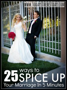 25 Ways To Spice Up Your Marriage In 5 Minutes - Even after having kids!