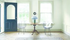 Breath Of Fresh Air.  Wall Color: Intense White  -  Trim Color: Ashen Tan  -  Door Color: Wrought Iron
