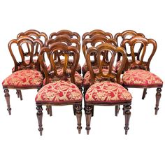 Victorian Style Admiralty Back Dining Chairs Set Of Ten
