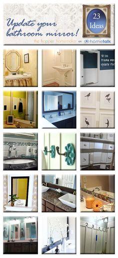 20  DIY Ways to Update Your Bathroom Mirror