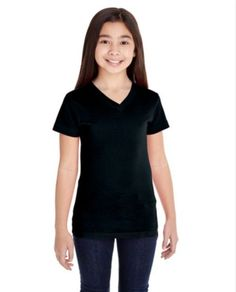 1LAT youth girls V neck