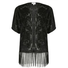 Threads Plus Size Baroque Velvet Kimono Jacket (66 CAD) ❤ liked on Polyvore featuring black, women, sexy cami, velvet camisole, floral camisole, floral cami and plus size cami