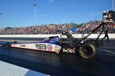 Antron Brown & DSR Team Testing in FL with 2015 Matco Tools, US. Army, Toyota T/F Dragster.