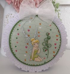 Disney Cards, Create And Craft, Lace Design, Tinkerbell, Embellishments, Christmas Tree, Holiday Decor, Crafts, Teal Christmas Tree