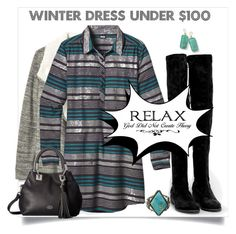 """RELAX and stay warm in a winter dress under 100"" by bonnie-wright-1 ❤ liked on Polyvore featuring Gap, Patagonia, Nly Shoes, Vince Camuto and Ippolita"