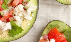 Taco Stuffed Avocado Recipe - good choice for lunch or dinner. Packed with healthy fats. Switch up your Taco nights and try this version! Stuffed Avocado, Meat Salad, Avocado Recipes, Avocado Egg, No Carb Diets, Salads, Tacos, Low Carb, Keto