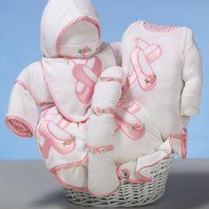 Ballerina Slipper Baby Shower Gift Basket