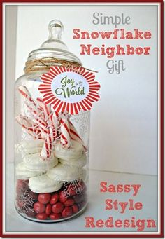Simple Snowflake Neighbor gift with Sassy Style Redesign
