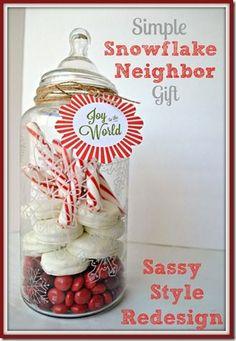 Sassy Style: Simple Christmas Snowflake Neighbor Gift sassystyleredesign.com