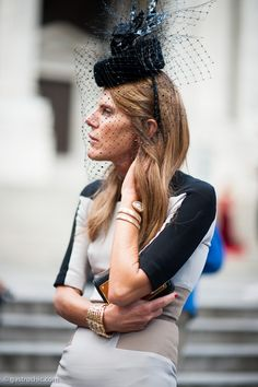 Pinned from GastroChic: Anna Dello Russo in a Hat and Veil