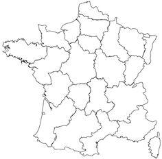 Grande carte d'Europe vierge et blanche à compléter