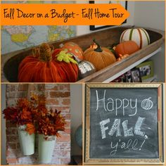 Fall decor on a budget - Fall Home Tour - Dogs Don't Eat Pizza