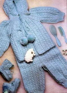 Receita de Crochê Infantil: CONJUNTO AZUL EM CROCHÊ PARA BEBE