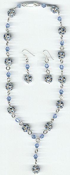Item #RH406, rhinestone and crystal set in sterling silver