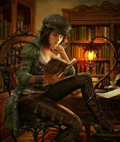 Victorian Library Girl
