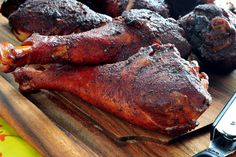 Disneyland Famous Smoked Turkey Legs Recipe for a Meat SMOKER ~ This recipe is…