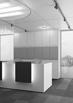 Create your reception with the Open Space partitions integrated with the furnitures Arcadia  //  ---  //  Crea la tua reception con le pareti Open Space integrate all'arredo Arcadia