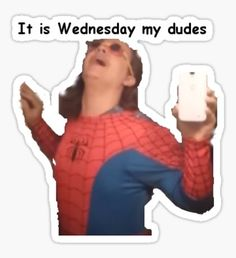 It is Wednesday my Dudes Sticker