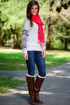 Tribal Sleeve Sweater