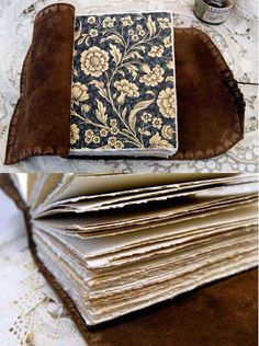 Musings Chestnut Brown Leather Journal by bibliographica on Etsy