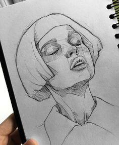 Attention to details as always:Thank you for sharing your knowledge to community. Looking forward to continuing seeing. Dark Art Drawings, Pencil Art Drawings, Art Drawings Sketches, Sweet Drawings, Girly Drawings, Portrait Sketches, Portrait Art, Art Inspiration Drawing, Art Inspo