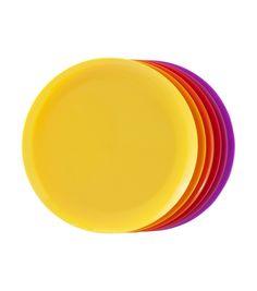 6-pak kunststof borden - HEMA