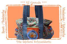 El Grande Weekender, Sporttasche, Badetasche,  von Die tapfere Schneiderin, handmade with love ... by Viola auf DaWanda.com