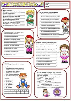 Students learn the Passive Voice with the help of this chart. Grammar: Passive voice or active voice; Grammar Practice, Grammar And Vocabulary, English Vocabulary, Grammar Tips, Grammar Rules, Active And Passive Voice, Active Voice, Grammar Exercises, English Exercises
