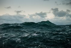 Photo by Corey Arnold in the North Sea. I love the blackness of the water.