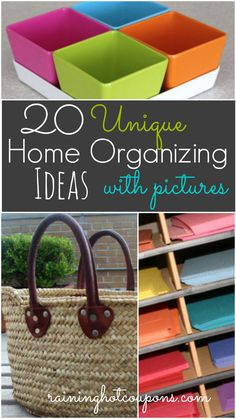 20 unique home organizing 20 Unique Home Organizing Ideas with Pictures! #thebestdeals