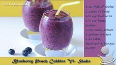 Blueberry Peach Cobbler Vi shake!! - Visalus Sciences